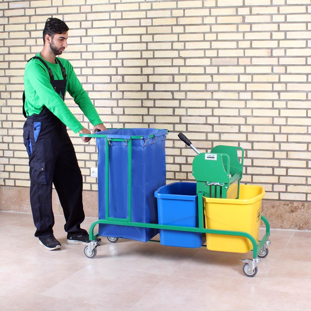 ترالی نظافتی بیمارستانی -هتلی AZIN 2150