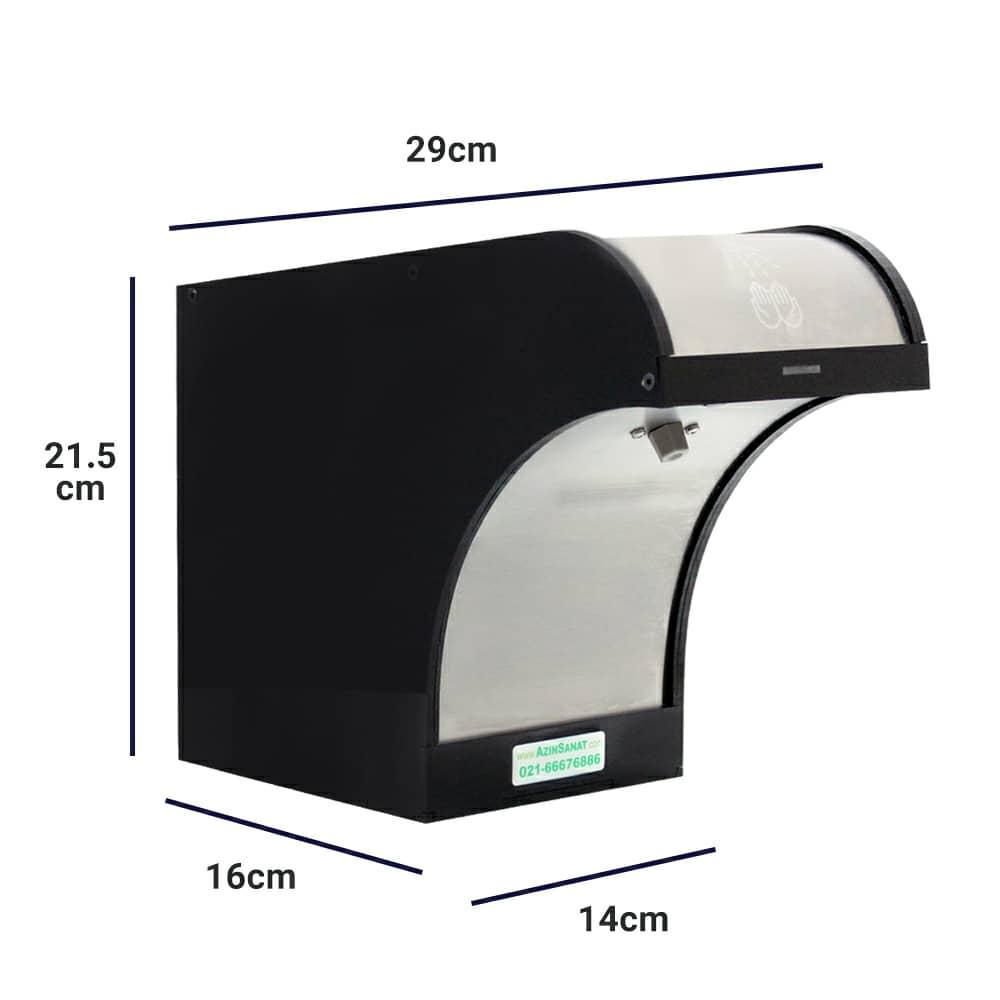 ابعاد دستگاه محلول ضدعفونی کننده اتوماتیک PA-150