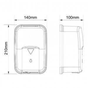 جا مایع دستشویی هوشمند Bim مدل 120