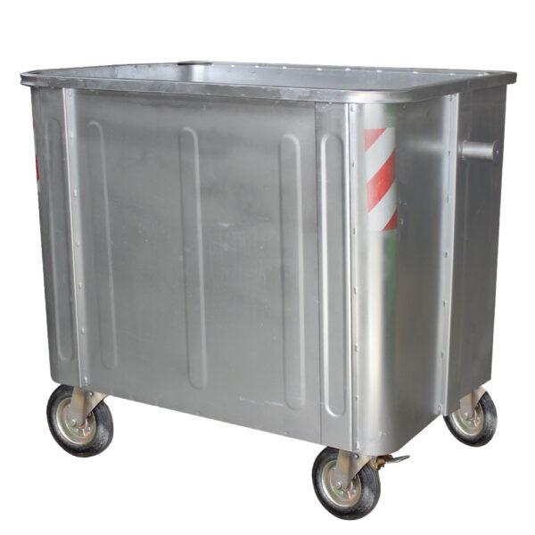 سطل زباله فلزی بدون درب مکعب